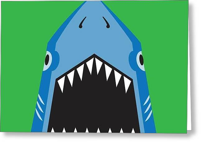 Shark Illustration, T-shirt Graphics Greeting Card