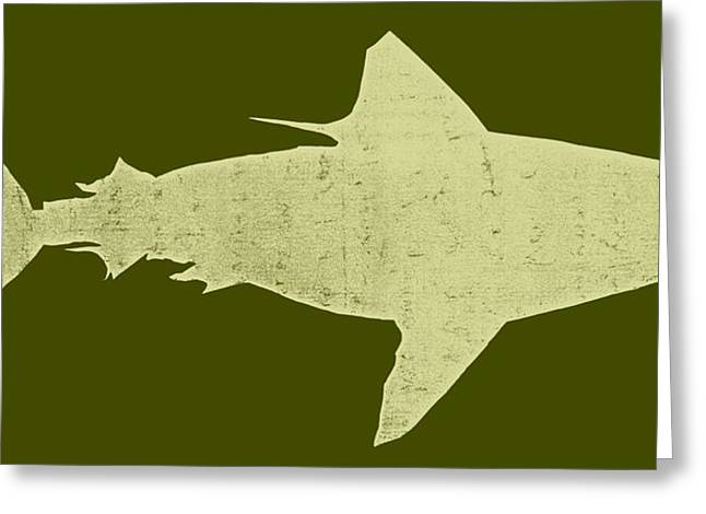 Shark Greeting Card by Michelle Calkins