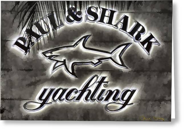 Shark Sign Greeting Card by Chuck Staley