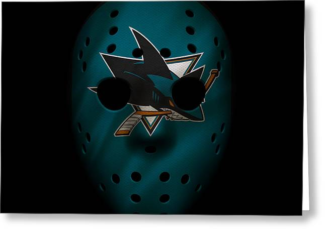 Sharks Jersey Mask Greeting Card