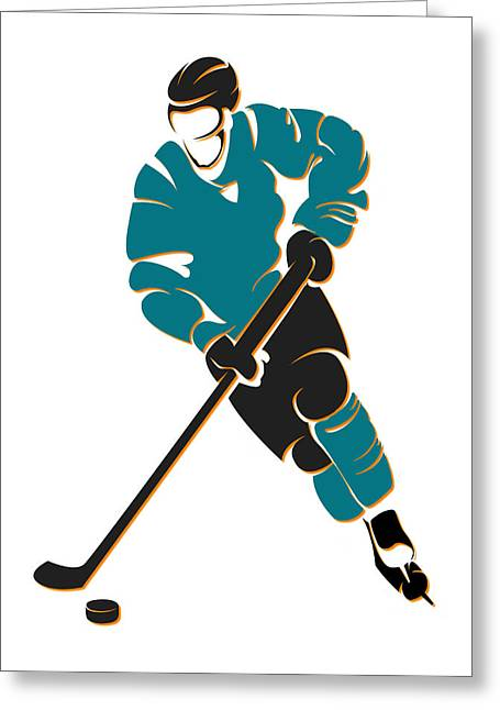 Sharks Shadow Player Greeting Card