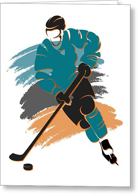 Sharks Shadow Player2 Greeting Card