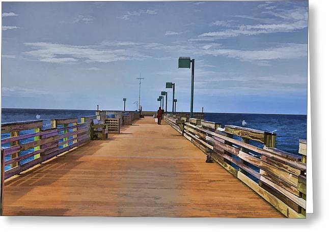 Sharky's Fishing Pier Greeting Card
