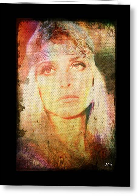 Sharon Tate - Angel Lost Greeting Card by Absinthe Art By Michelle LeAnn Scott