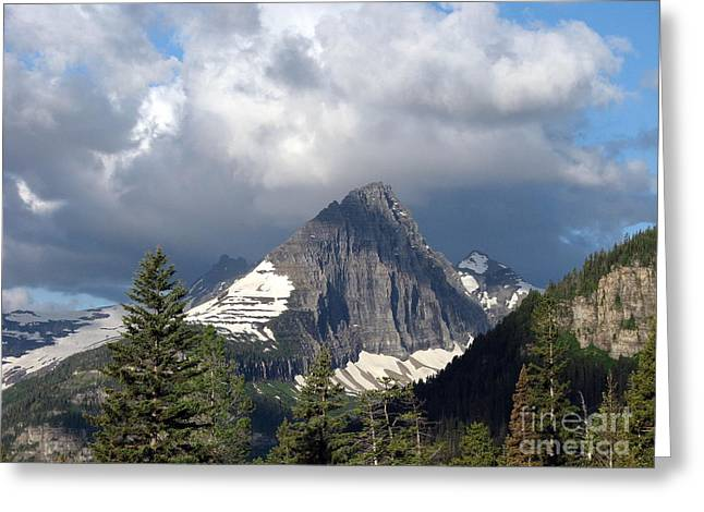 Sharp Peak Into Clouds Greeting Card