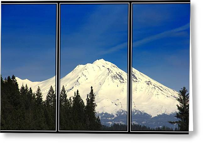 Greeting Card featuring the photograph Shasta by Athala Carole Bruckner