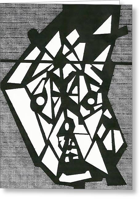 Shatterd Greeting Card by David King