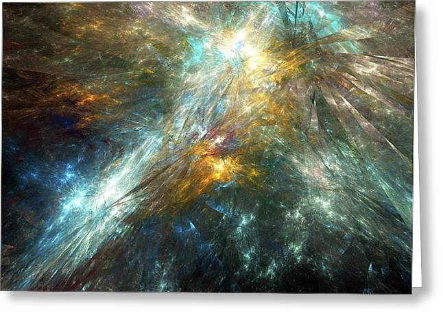 Shattered Space-time Greeting Card by Equinox Graphics