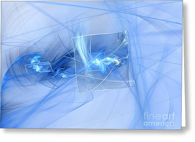 Greeting Card featuring the digital art Shattered by Victoria Harrington