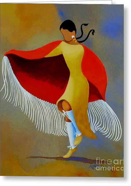 Shawl Dancer Greeting Card by Ainsley McNeely