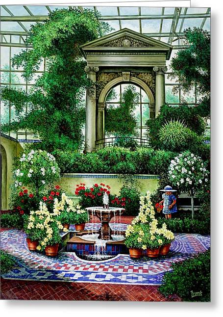 Shaw's Gardens Mediteranian House Greeting Card by Michael Frank