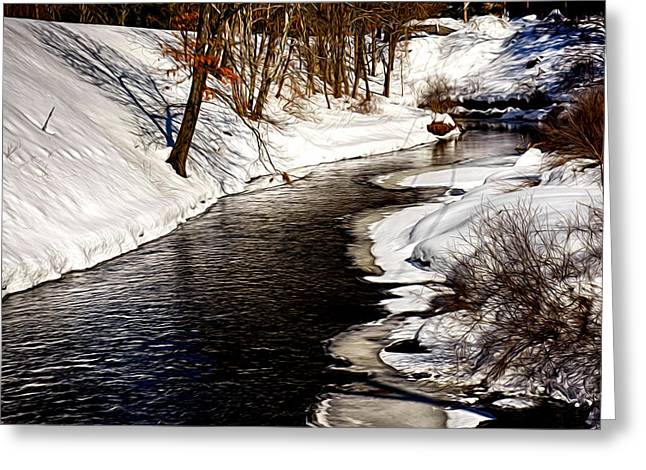 Shawsheen River Greeting Card by Tricia Marchlik