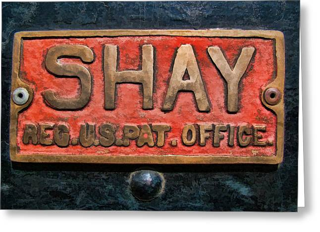 Shay Builders Plate Greeting Card