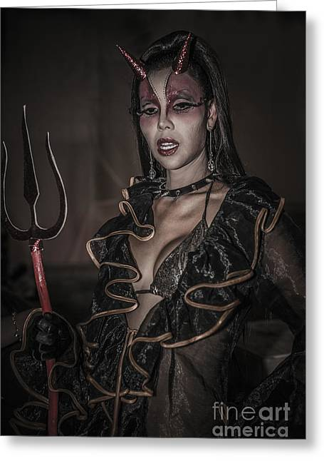 She Devil Greeting Card by Ray Evans