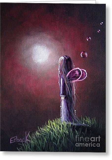 She Is In The Arms Of Heaven By Shawna Erback Greeting Card by Shawna Erback