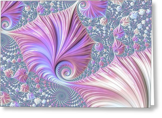 Greeting Card featuring the digital art She Shell by Susan Maxwell Schmidt