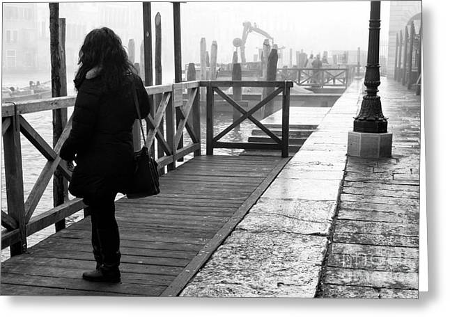 She Waits In Venice Greeting Card