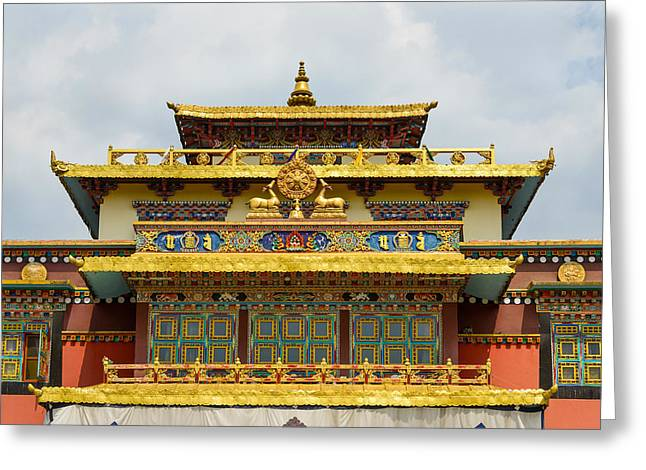 Shechen Monastery In Kathmandu Greeting Card by Dutourdumonde Photography