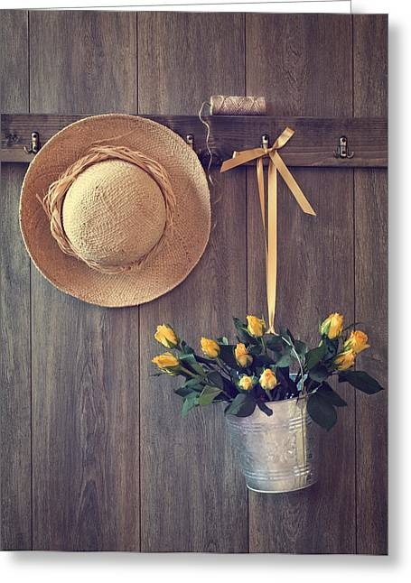 Shed Door Greeting Card by Amanda Elwell