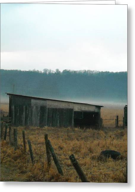 Shed In A Field Greeting Card