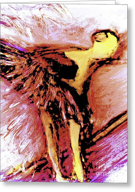 Shedding Her Wings Greeting Card by FeatherStone Studio Julie A Miller