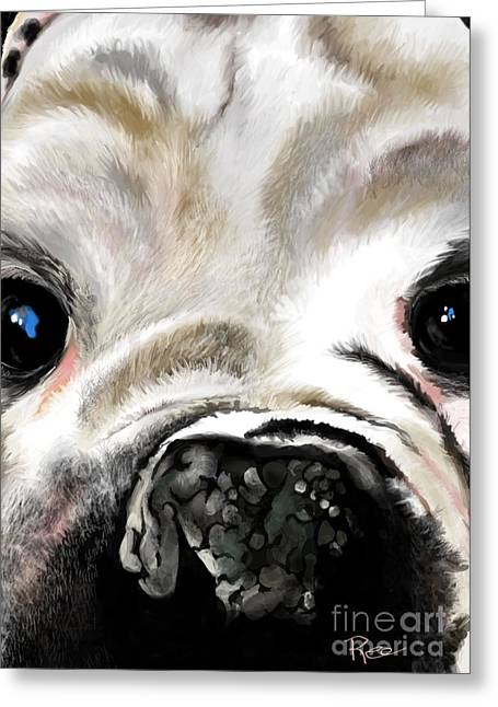 Sheeba Bulldog Greeting Card