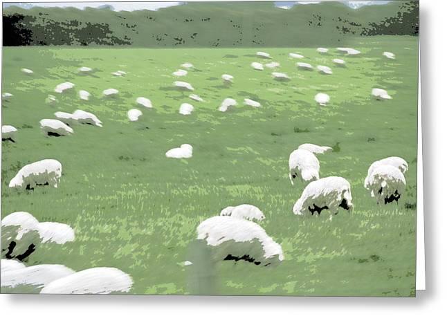 Sheep Greeting Card by A K Dayton