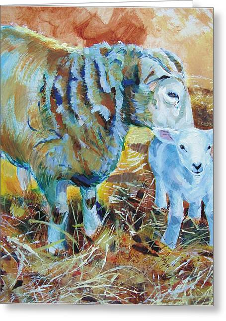 Sheep And Lamb Greeting Card