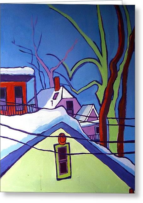 Sheffield Winter Greeting Card by Debra Bretton Robinson