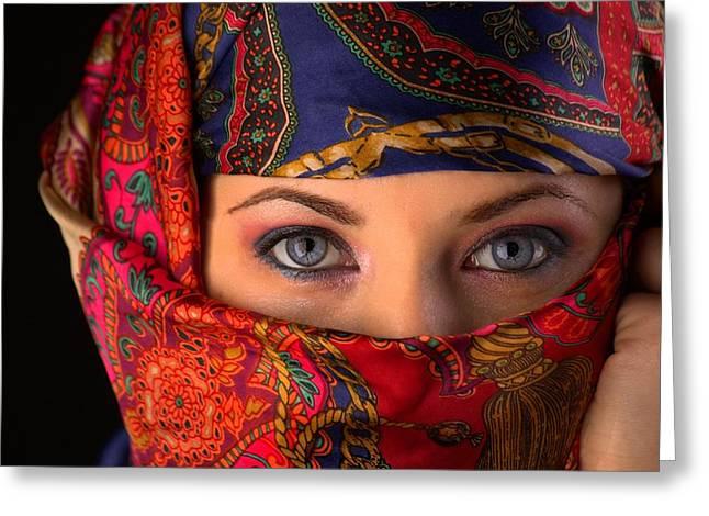 Sheherazade Greeting Card by Mihai Piltu
