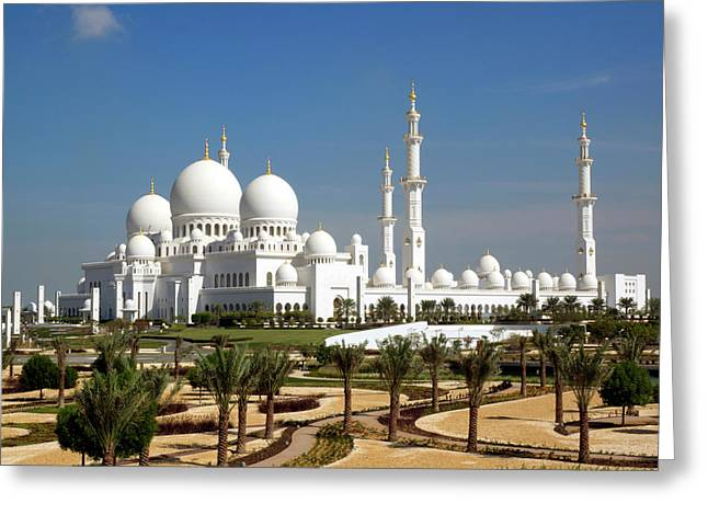 Sheikh Zayed Bin Sultan Al Nahyan Grand Greeting Card by Panoramic Images