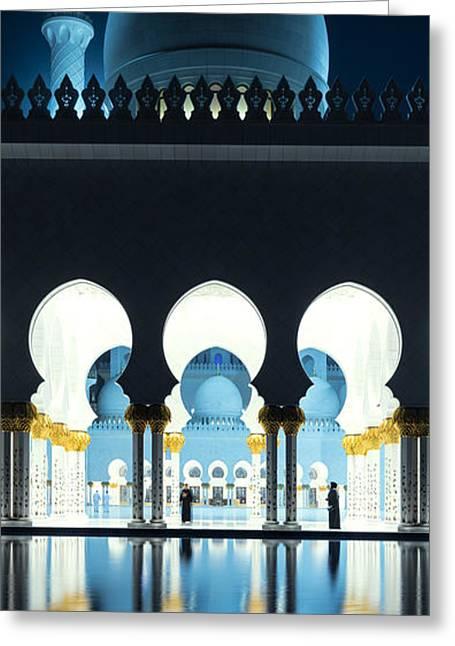 Sheikh Zayed Grand Mosque - Abu Dhabi - Uae Greeting Card by Matteo Colombo