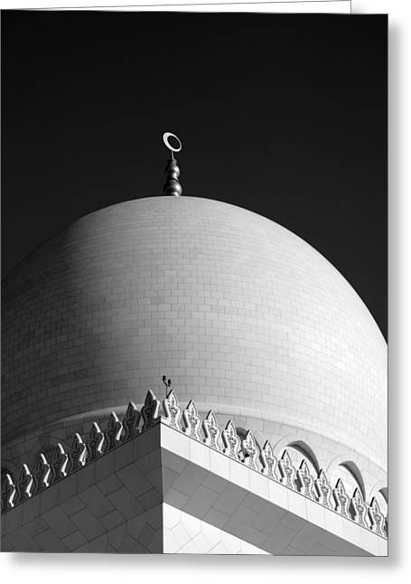 Sheikh Zayed Grand Mosque Greeting Card by Myles Cummings