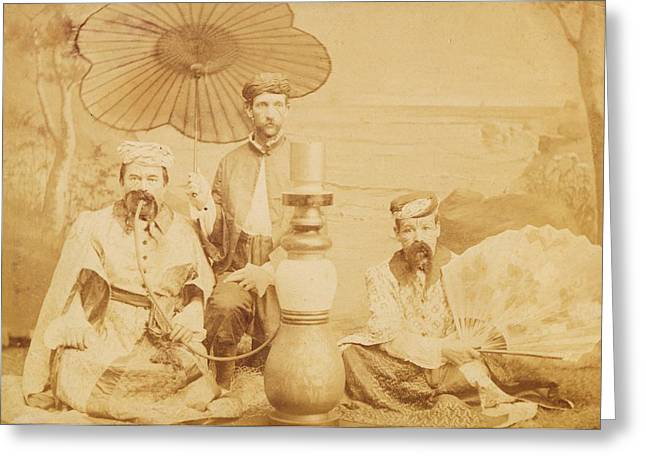 Greeting Card featuring the photograph Sheiks by Paul Ashby Antique Image