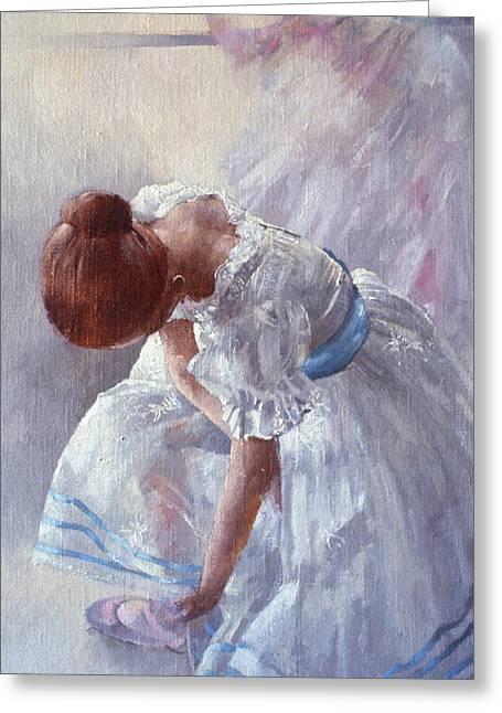 Sheila Against A Window Oil On Canvas Greeting Card