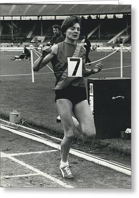 Sheila Taylor Wins 800 Metres Greeting Card by Retro Images Archive