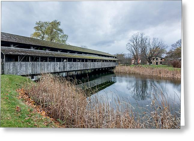 Shelburne Covered Bridge Greeting Card