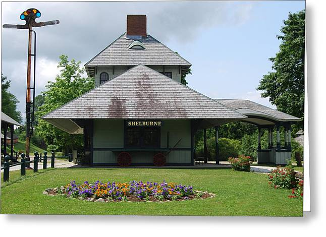 Greeting Card featuring the photograph Shelburne Depot by Caroline Stella