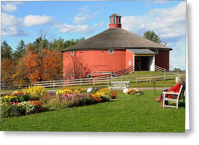 Greeting Card featuring the photograph Shelburne Round Barn by Paul Miller