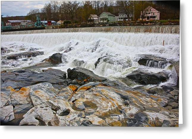 Shelburne's Falls Greeting Card by Randi Shenkman