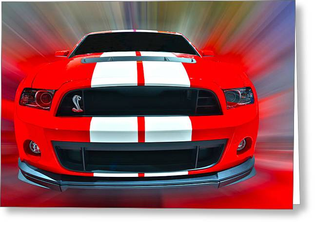 Shelby Gt 500  2013 Greeting Card