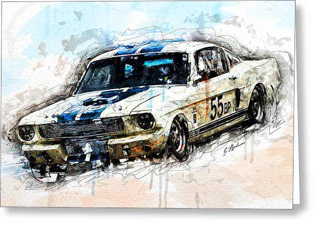 Shelby Speed Greeting Card by Gary Bodnar