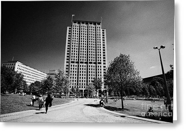 shell centre tower and jubilee gardens southbank London England UK Greeting Card by Joe Fox