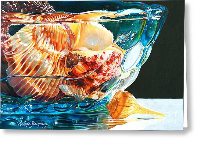 Shell Game Greeting Card by Arlene Steinberg