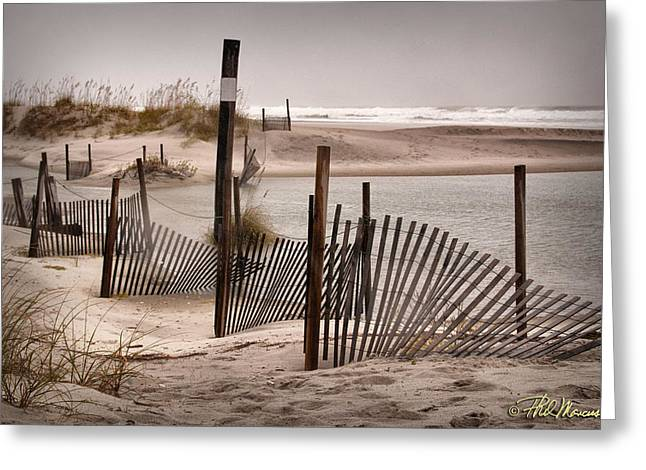 Greeting Card featuring the photograph Shell Island Hurricane Sandy by Phil Mancuso