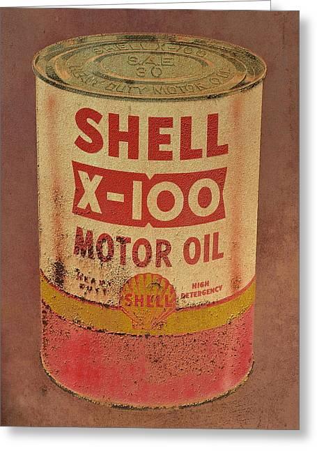 Shell Motor Oil Greeting Card