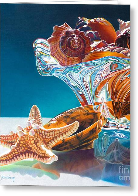 Shell Shocked Greeting Card by Arlene Steinberg