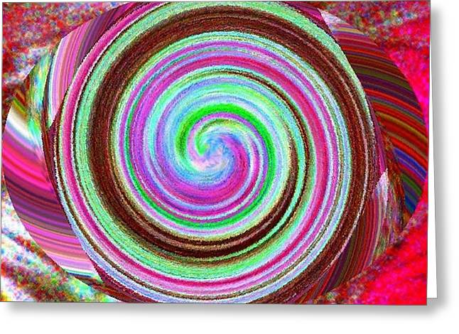 Greeting Card featuring the digital art Shell Shocked by Catherine Lott
