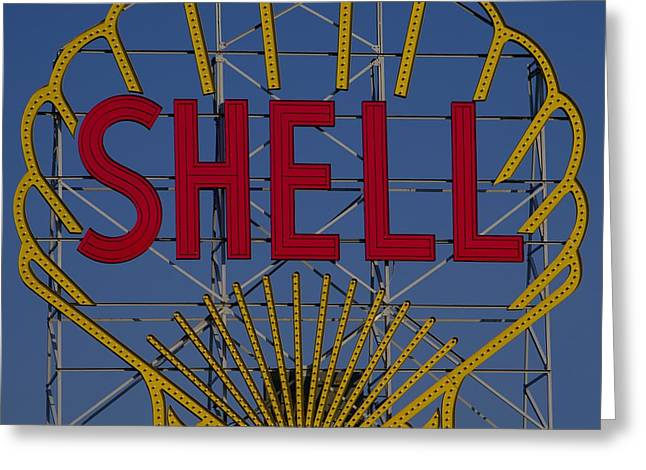 Shell Sign Cambridgeside Greeting Card