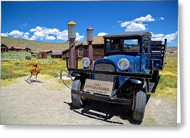 Shell Station In Bodie Greeting Card by Joe Urbz